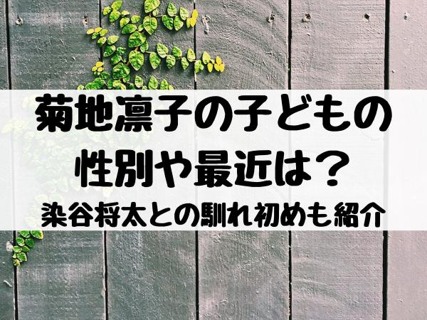 菊地凛子の子どもの性別や最近は?染谷将太との馴れ初めや年の差も紹介