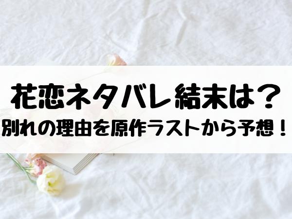 花恋のネタバレ結末は?別れの理由はなぜなのかを原作ラストから予想!