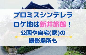 プロミスシンデレラのロケ地は新井旅館!公園や自宅(家)の撮影場所も